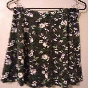 American Eagle Outfitters floral skirt.